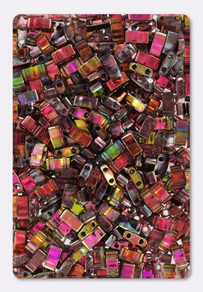 wine Beadweaving, gold yellow 5x2.3x1.9mm pink ht85 purple Half Tila Beads rose 5-15 grams Miyuki HTL-4573 MAGIC WINE 2 hole