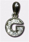 G Charms W / Enamel And Rhinestones Letter x1