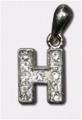 B Charms W / Enamel And Rhinestones Letter x1
