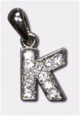 K Charms W / Enamel And Rhinestones Letter x1