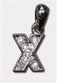 X Charms W / Enamel And Rhinestones Letter x1