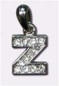 Z Charms W / Enamel And Rhinestones Letter x1