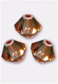 3mm Swarovski Crystal Bicone Beads 5328 Crystal Copper x50