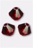 3mm Swarovski Crystal Bicone Beads 5328 Siam x50