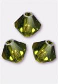 3mm Swarovski Crystal Bicone Beads 5328 Olivine x50