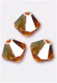 3mm Swarovski Crystal Bicone Beads 5328 Topaz AB x50