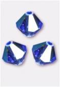 3mm Swarovski Crystal Bicone Beads 5328 Sapphire AB x50