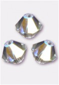 4mm Swarovski Crystal Bicone Beads 5328 Crystal AB x50