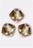 3mm Swarovski Crystal Bicone Beads 5328 Light Colorado Topaz x50