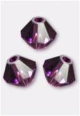 4mm Swarovski Crystal Bicone Beads 5328 Amethyst x50
