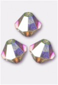 4mm Swarovski Crystal Bicone Beads 5328 Crystal AB2X x50