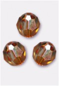 6mm Swarovski Crystal Round 5000 Crystal Copper x6