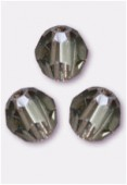 4mm Swarovski Crystal Round 5000 Black Diamond x10