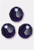 4mm Swarovski Crystal Round 5000 Purple Velvet x10