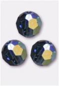4mm Swarovski Crystal Round 5000 Montana AB x10