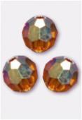 4mm Swarovski Crystal Round 5000 Topaz AB x10