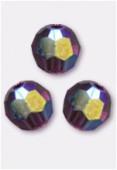 4mm Swarovski Crystal Round 5000 Amethyst AB x10