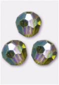 4mm Swarovski Crystal Round 5000 Olivine AB x10