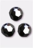 4mm Swarovski Crystal Round 5000 Jet hematite 2X x10