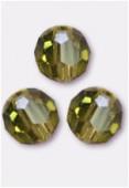 6mm Swarovski Crystal Round 5000 Khaki x6