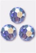 6mm Swarovski Crystal Round 5000 Light Sapphire AB x6