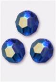 6mm Swarovski Crystal Round 5000 Capri Blue AB x6