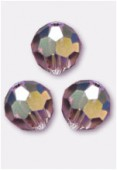 6mm Swarovski Crystal Round 5000 Light Amethyst AB x6