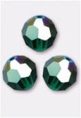 6mm Swarovski Crystal Round 5000 Emerald AB x6