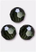 8mm Swarovski Crystal Round 5000 Turmaline x1