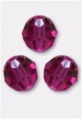 10mm Swarovski Crystal Round 5000 Fuchsia x1