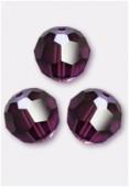 10mm Swarovski Crystal Round Bead 5000 Amethyst x1