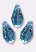 11x5.5mm Swarovski Crystal Drop Pendant 6000 Aquamarine x6