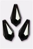 11x5.5mm Swarovski Crystal Drop Pendant 6000 Jet x6