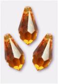 11x5.5mm Swarovski Crystal Drop Pendant 6000 Topaz x6