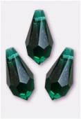 11x5.5mm Swarovski Crystal Drop Pendant 6000 Emerald x6