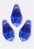 11x5.5mm Swarovski Crystal Drop Pendant 6000 Sapphire x6