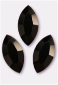15x7mm Swarovski Crystal Xillion Navette Fancy Stone 4228 Jet x1