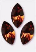 15x7mm Swarovski Crystal Xillion Navette Fancy Stone 4228 Smoked Topaz F x1