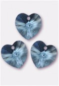 10.3x10mm Swarovski Crystal Pendant 6228 Aquamarine x4