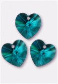10.3x10mm Swarovski Crystal Pendant 6228 Blue Zircon x4
