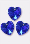 10.3x10mm Swarovski Crystal Pendant 6228 Sapphire AB x4