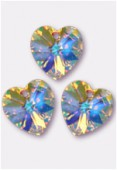 18x17.5mm Swarovski Crystal 6228 Heart Pendant Crystal AB x1