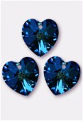 18x17.5mm Swarovski Crystal 6228 Heart Pendant Crystal Bermuda Blue x1