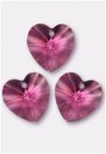 18x17.5mm Swarovski Crystal 6228 Heart Pendant Pink x1