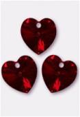 18x17.5mm Swarovski Crystal 6228 Heart Pendant Siam AB x1