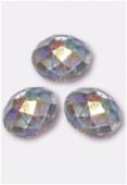6mm Swarovski Crystal Briolette Bead 5040 Crystal AB x4