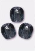 3mm Czech Round Fire Polish Glass Beads Montana x50