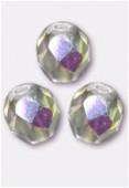 3mm Czech Round Fire Polish Glass Beads Crystal AB x50