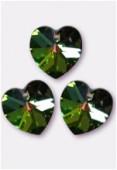 18x17.5mm Swarovski Crystal 6228 Heart Pendant Crystal Vitrail Medium x1