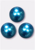 10mm Czech Smooth Round Pearls Turquoise x4